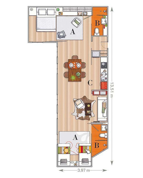 Planos De Lofts | Planos/ideas | Pinterest | House architecture ...