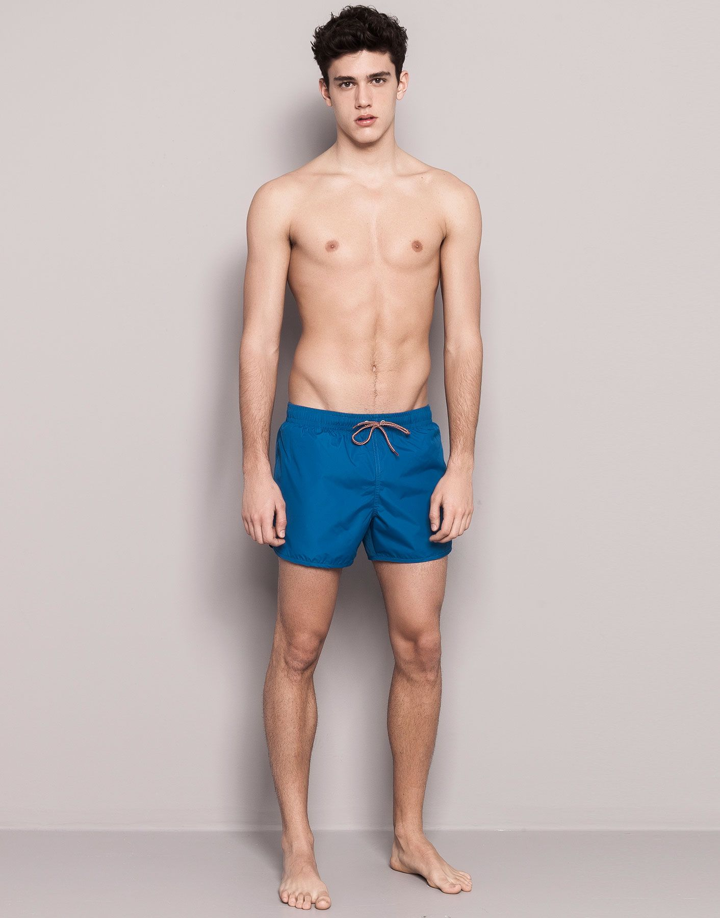 a5d5b7ca78e Swimsuit With Shorts, Blue Shorts, Pull & Bear, Swim Trunks, Swimsuit,