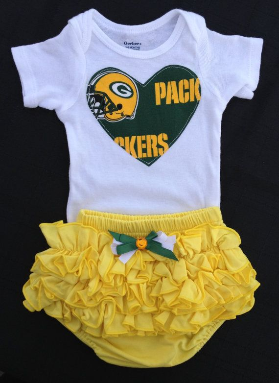 490d6990 Green Bay Packers Girls Outfit by BebeSucreOnline on Etsy | green ...