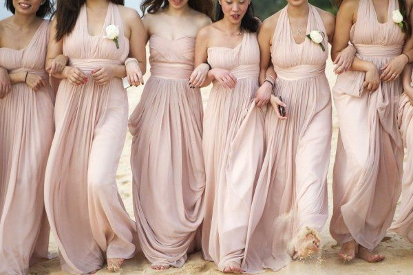 Blush Bridesmaid Dresses Grey Suits 3 | blush wedding | Pinterest ...