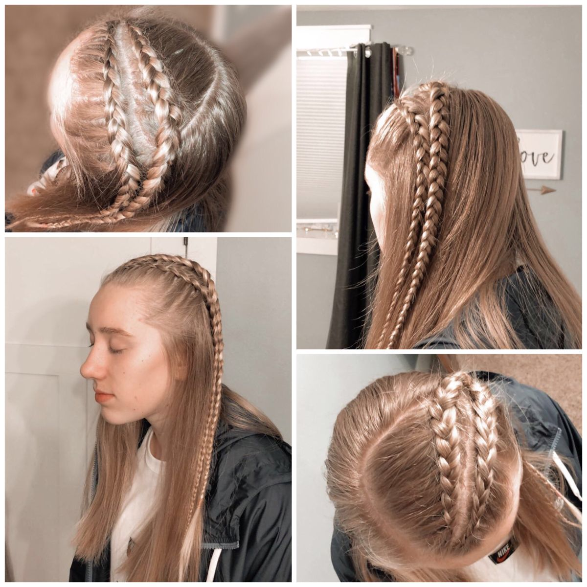 Two Half Dutch Braids In 2020 Braided Hairstyles Easy Hair Styles Braided Hairstyles