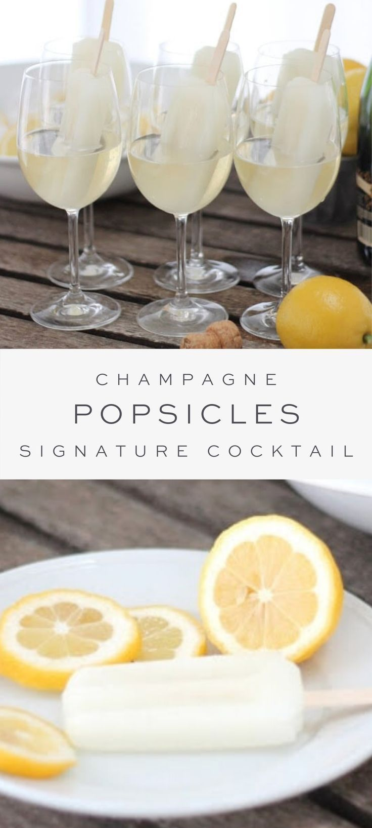 Signature Cocktail | Champagne Popsicles
