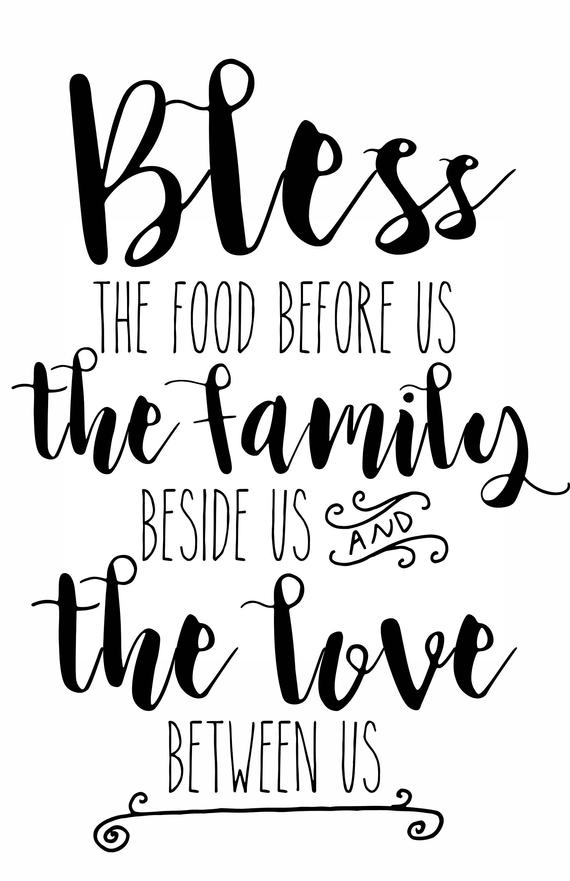 Printable 11x17 Bless The Food Poster Print Instant Etsy In 2020 Bless The Food Southern Sayings Sign Quotes