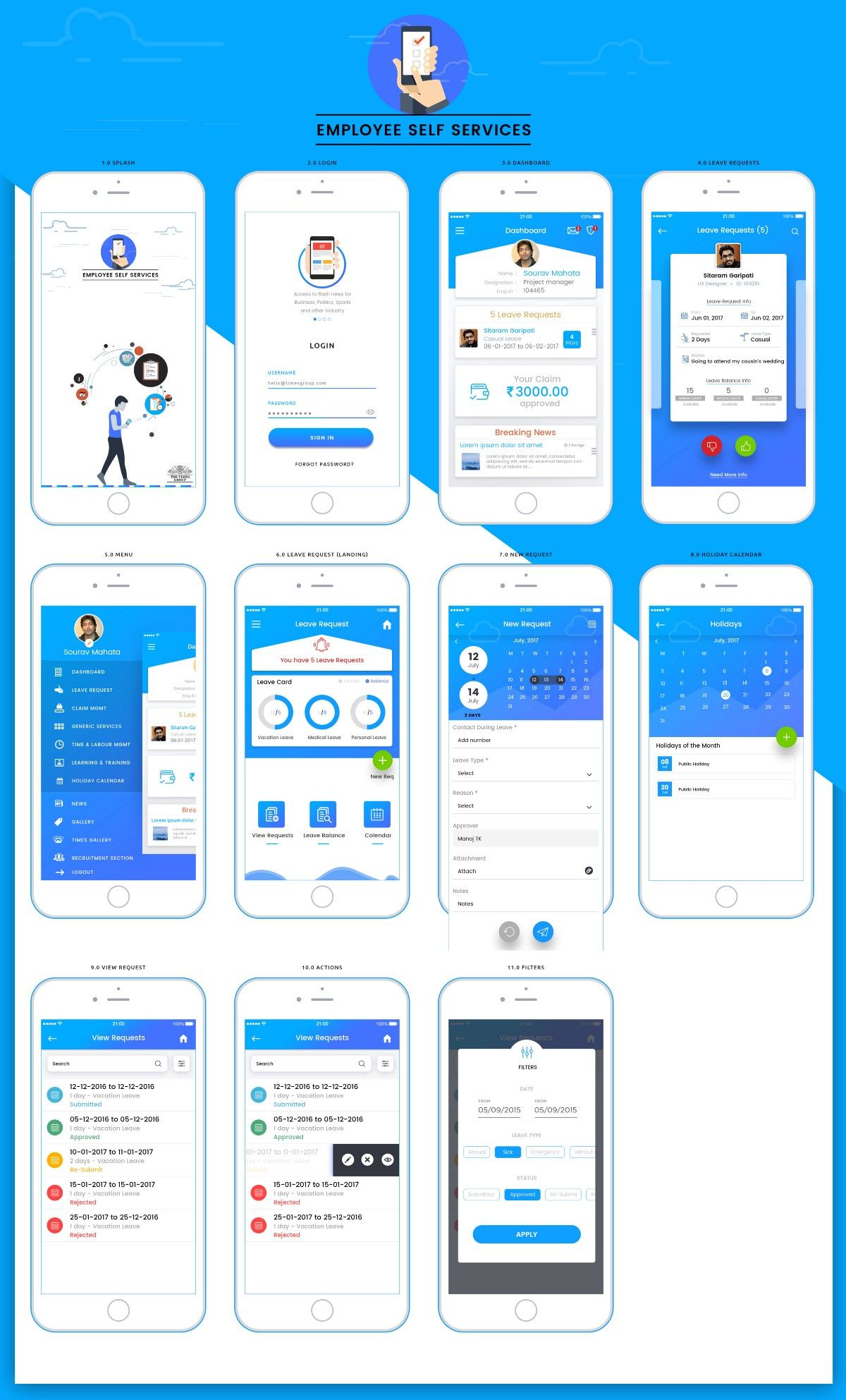 ESS) is mobile app that provide employees with access to