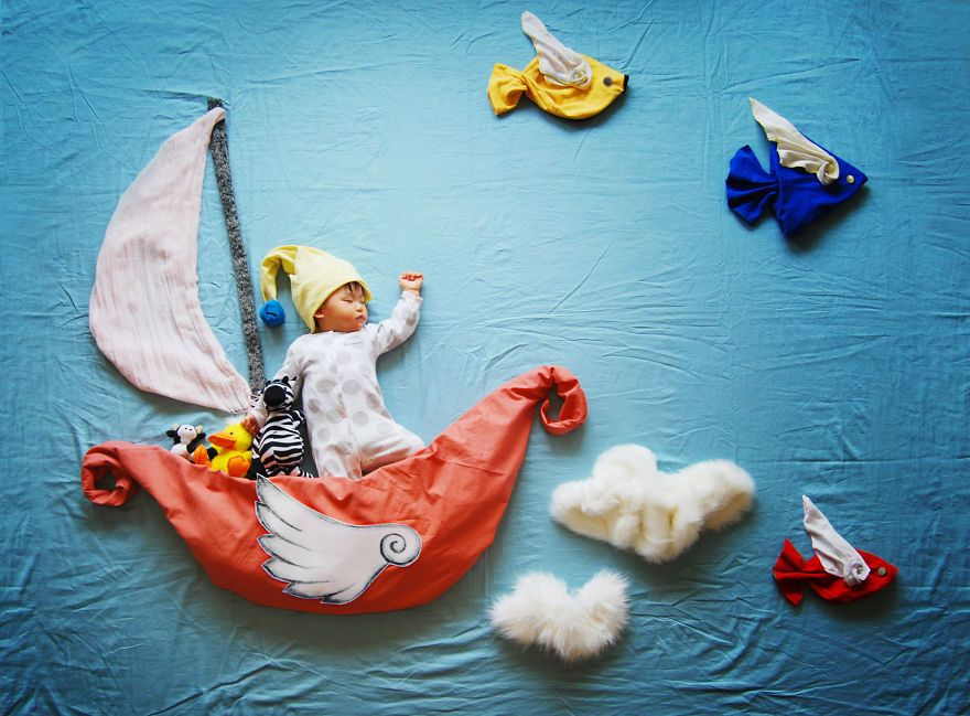 Creative Mom Turns Her Babys Naptime Into Dream Adventures