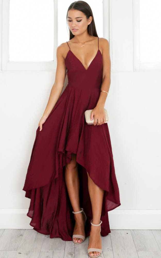 3efab8227b Gorgeous high ~ low Burgundy Formal Dress