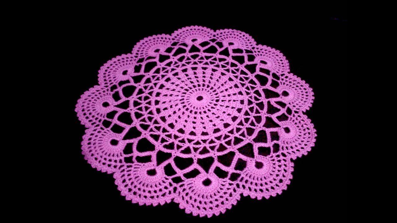 Centro de Mesa En Crochet Facil Parte 1 | tapetes | Pinterest