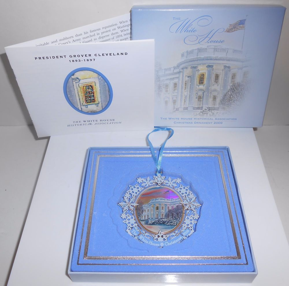 White House Christmas Ornament 2009 Historical Association In Box With  Booklet
