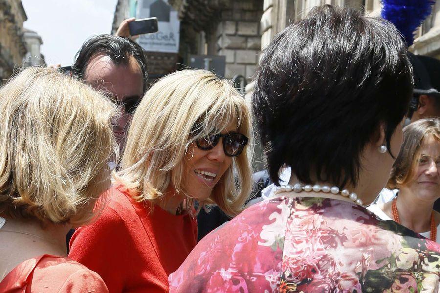 Brigitte Macron, ses premiers pas au G7