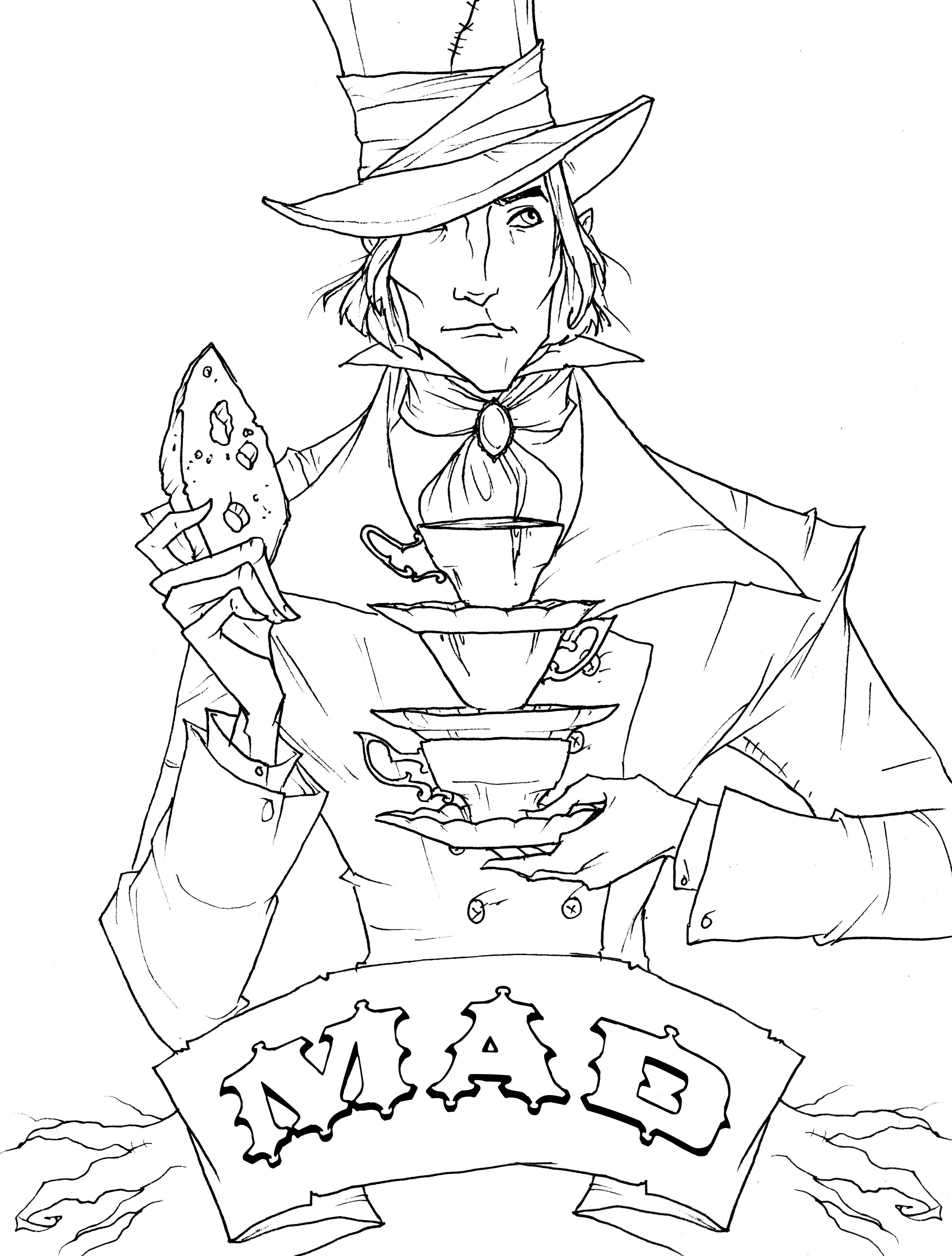 Enjoy This Free Mad Hatter Coloring Page From Impact S Alice S Wonderfilled Adventures By Abigail Larson Coloringbook Alice Mad Hatter Day Mad Hatter Hatter