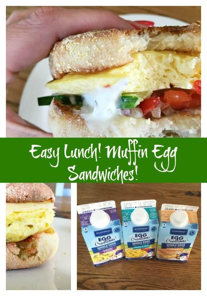Greek Inspired English Muffin Egg Sandwich