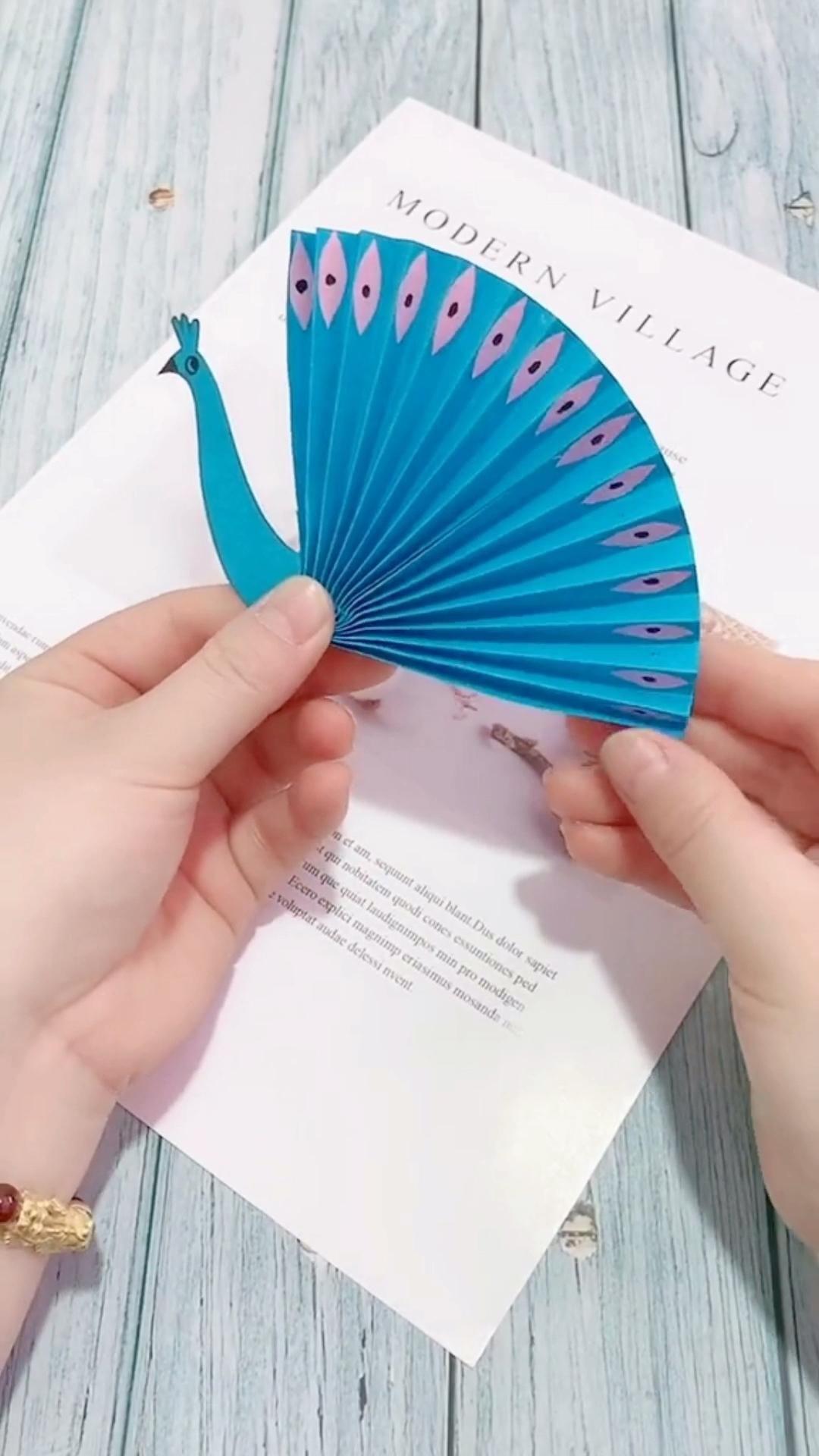 Peacock Spread Tail Origami Tutorial