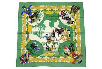 Love the dramatic details of this Hermes scarf!