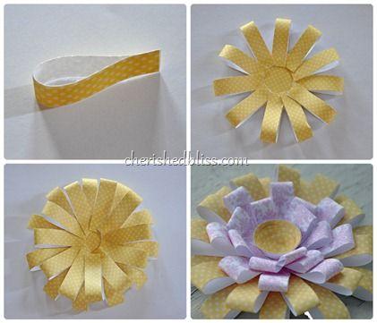 chrysanthemum paper flower tutorial