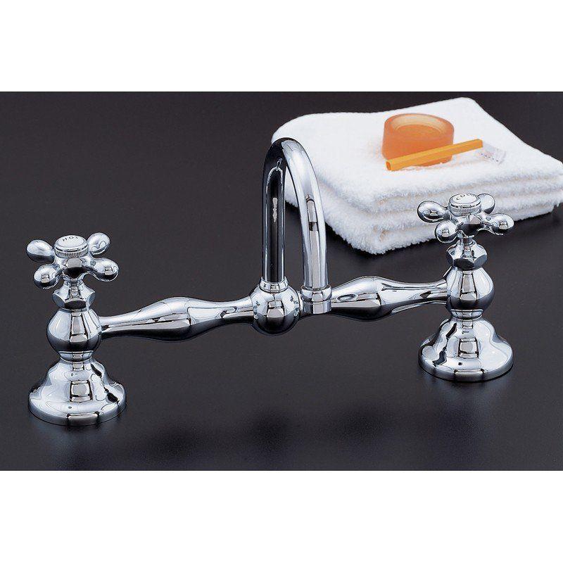Columbia Bridge Faucet Set With Gooseneck Spout 12 Inch Centers Faucet Sink Faucets Bathroom Sink Faucets
