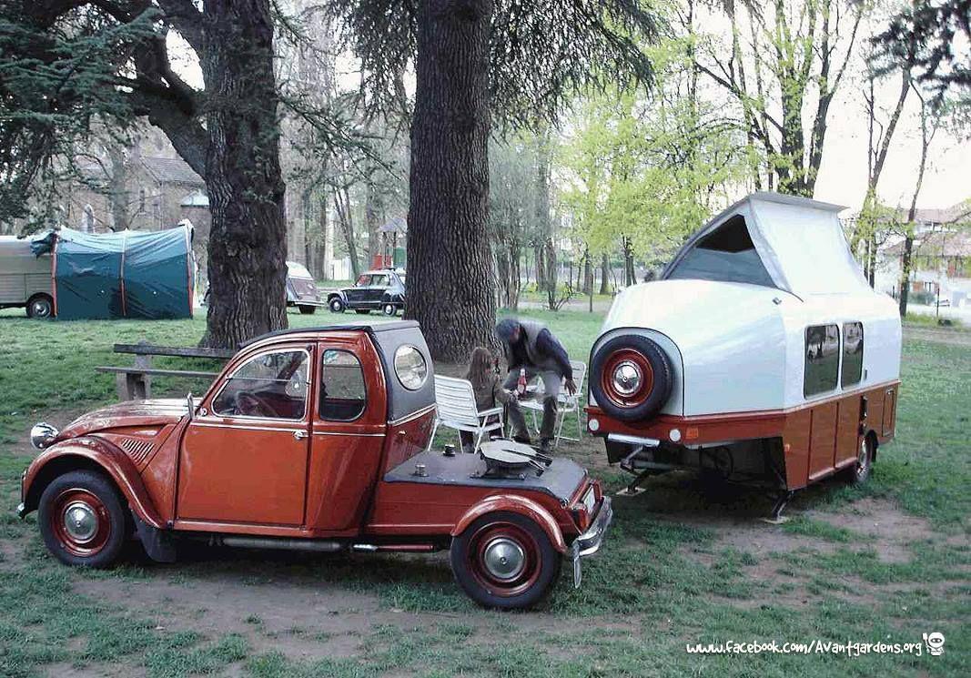 citroen 2cv camping trailer caravans camper camper. Black Bedroom Furniture Sets. Home Design Ideas