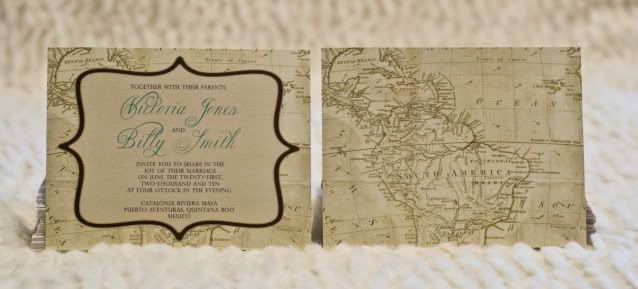 vintage map wedding invitations | vintage map inspired invitations, Wedding invitations