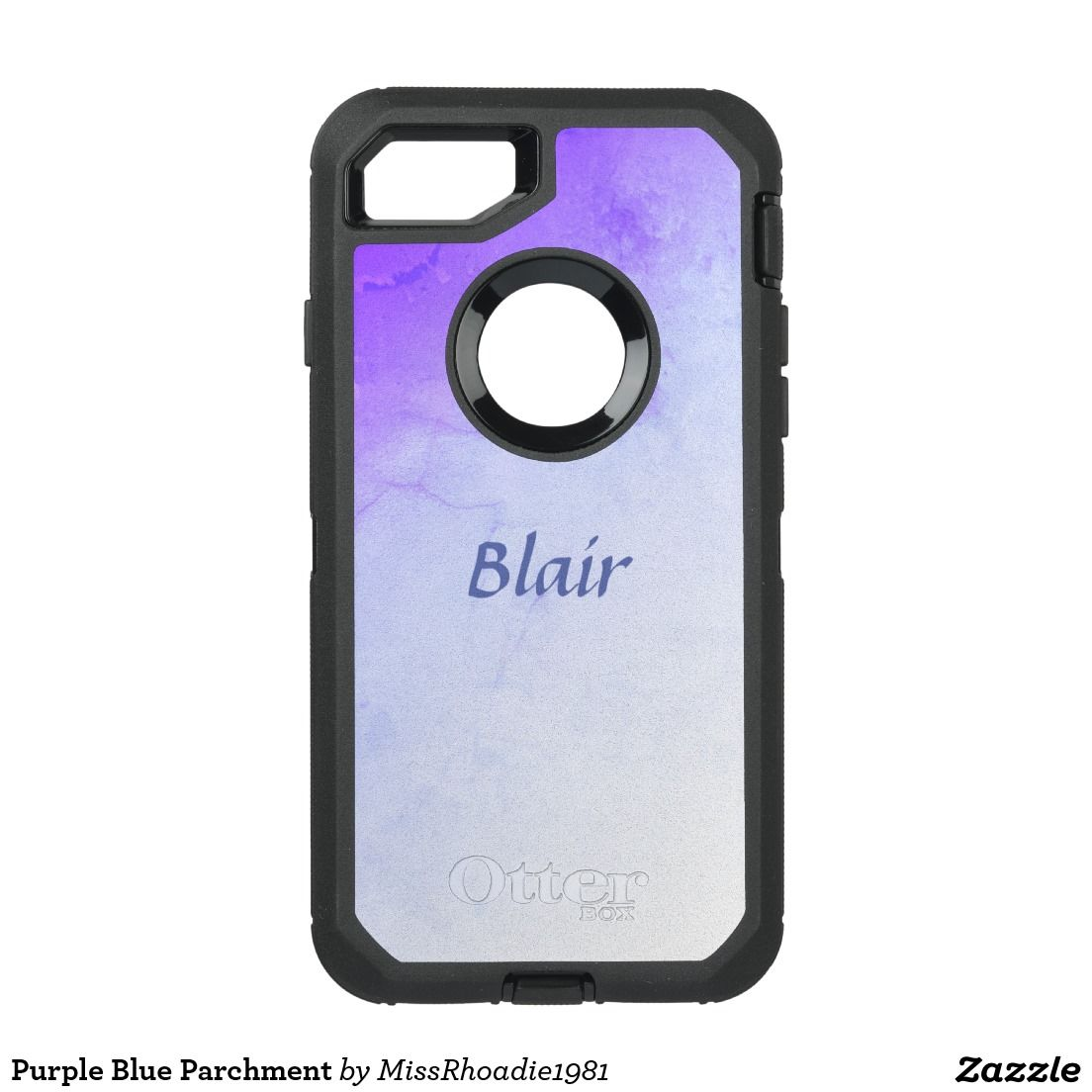 Purple Blue Parchment Otterbox iphone7  You will absolutely love this phone case. Created exactly as picture, this case features a purplish blue parchment design.  Personalize yours today. #otterbox #zazzle