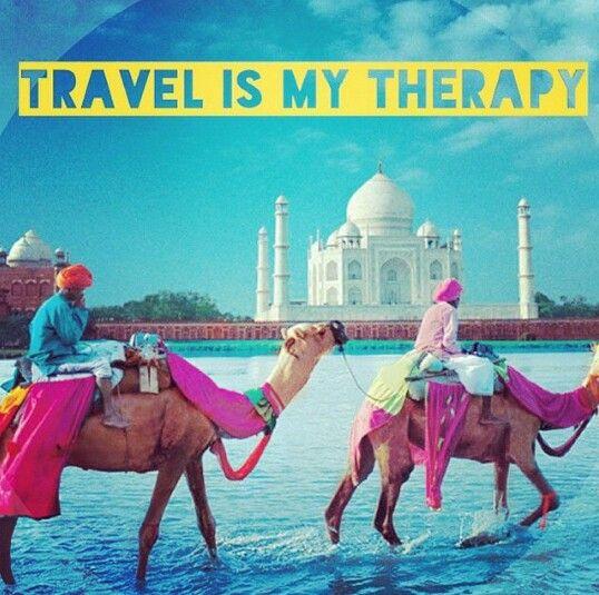 Viajar é minha terapia...