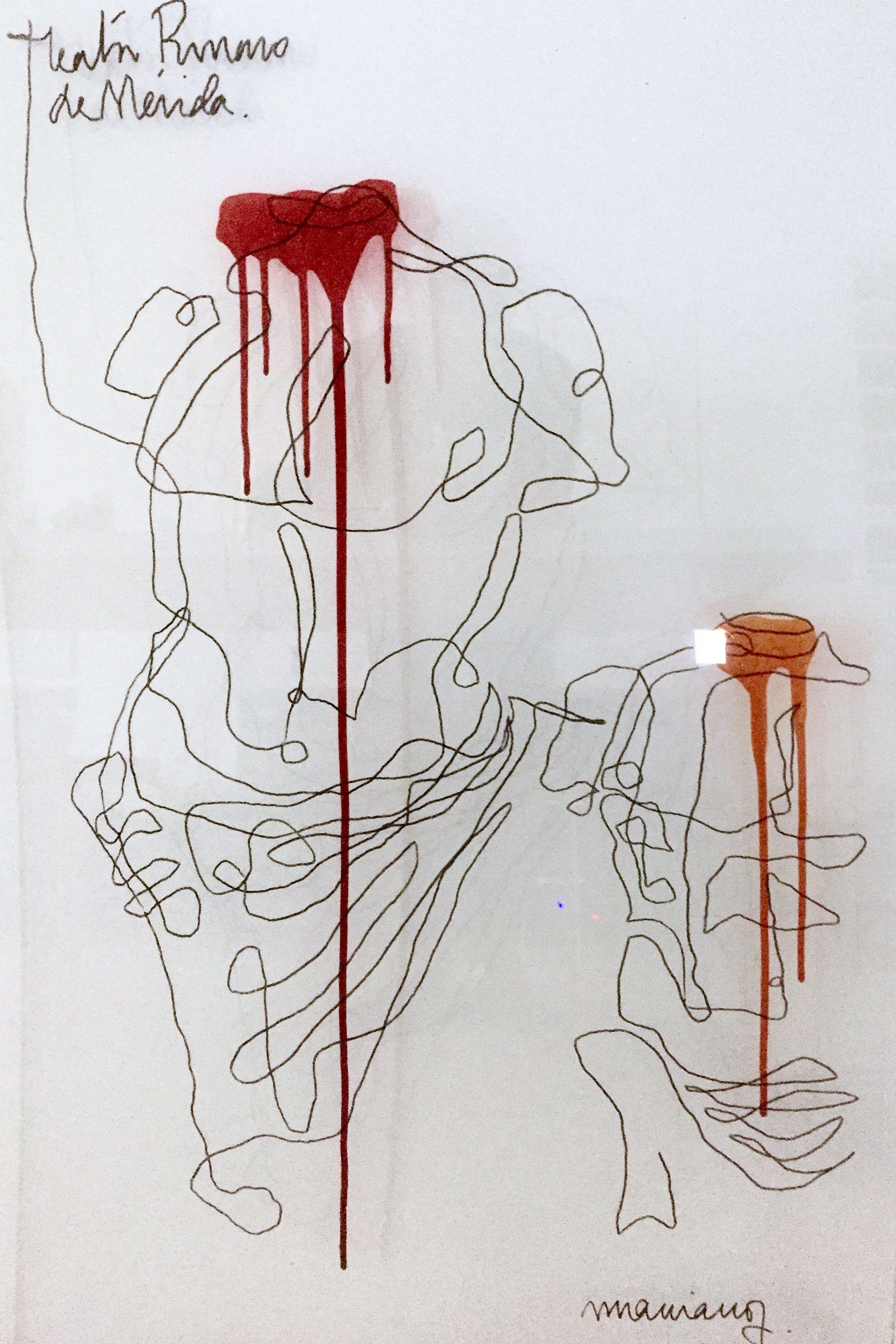 Pintando sobre vidrio... #marianodibuja #marianopintasobrevidrio  @Museo Arqueológico