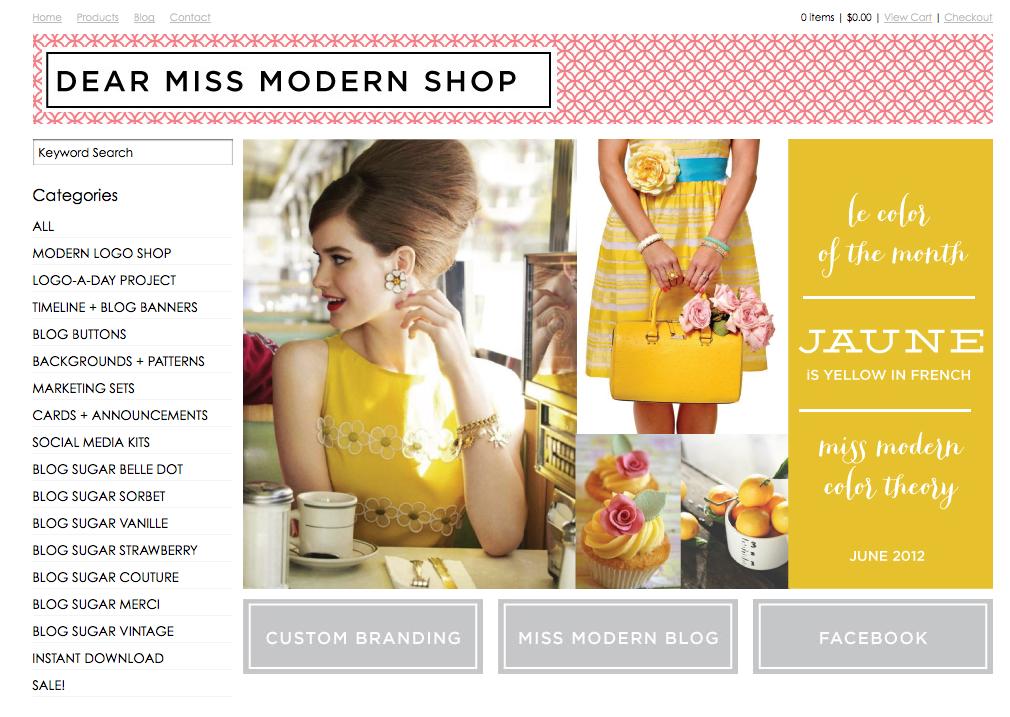 Dear Miss Modern Design Shop  Fancy designer templates for