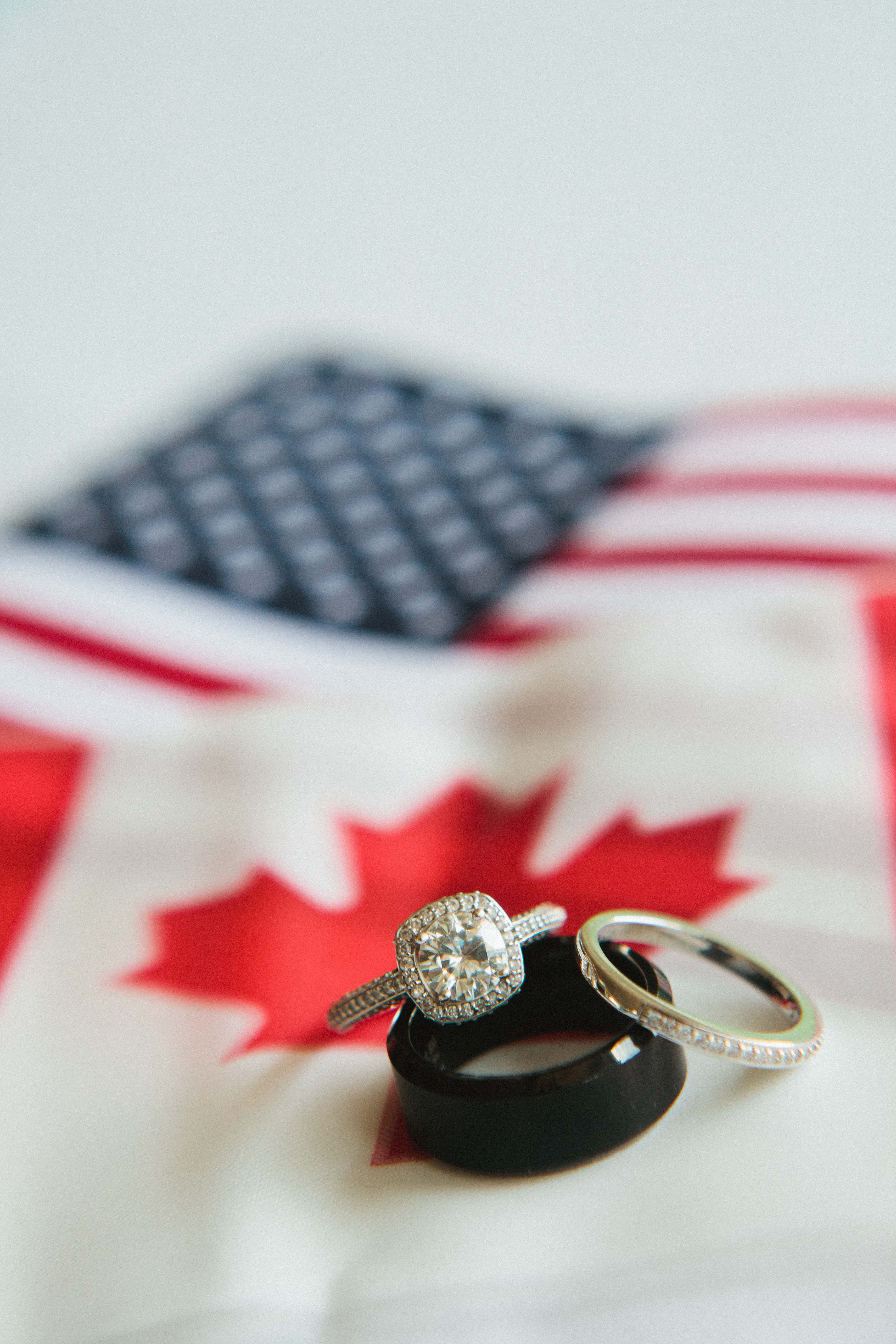 Canadian American Wedding Wddings The Rings