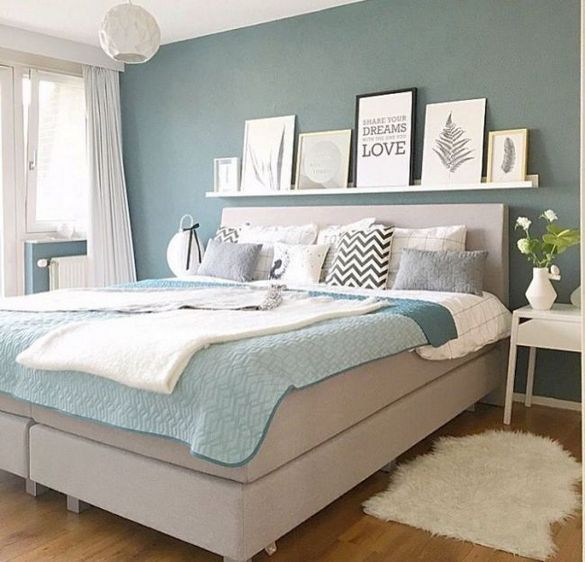 Bedroom Inspirations Cozy Color Schemes Blue