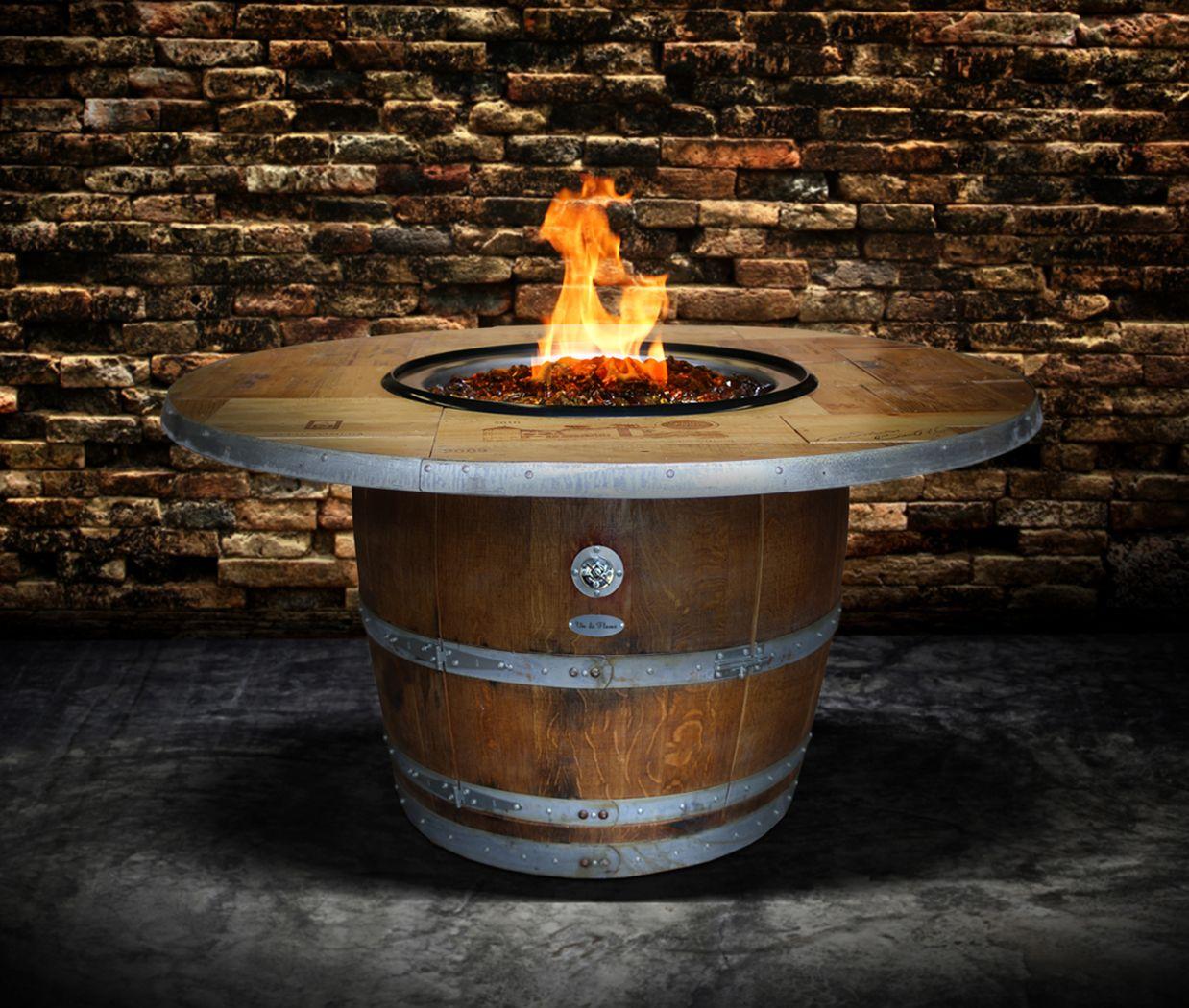 Enthusiast Wine Barrel Fire Pit Table En 2019 Fire