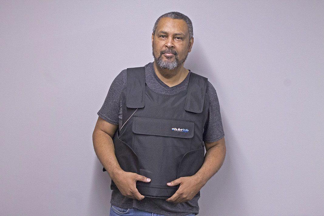 Bulletproof professor kevin willmott protesting concealed