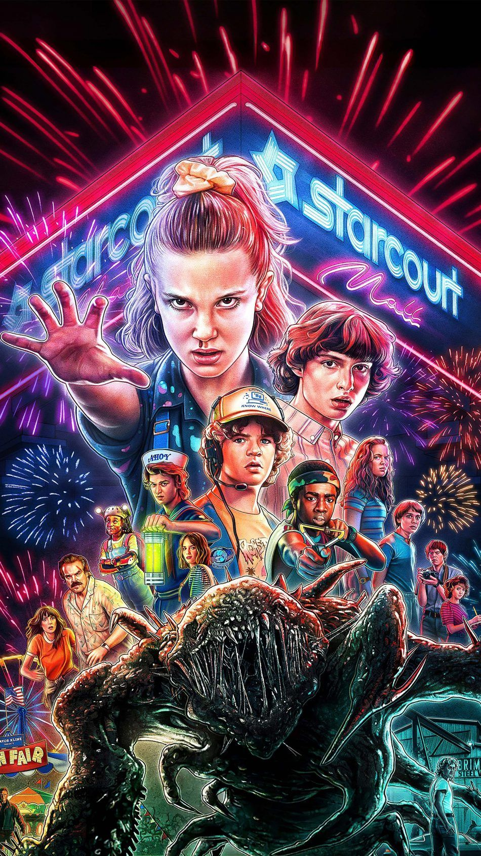 Stranger Things Season 3 Artwork Stranger things 2017