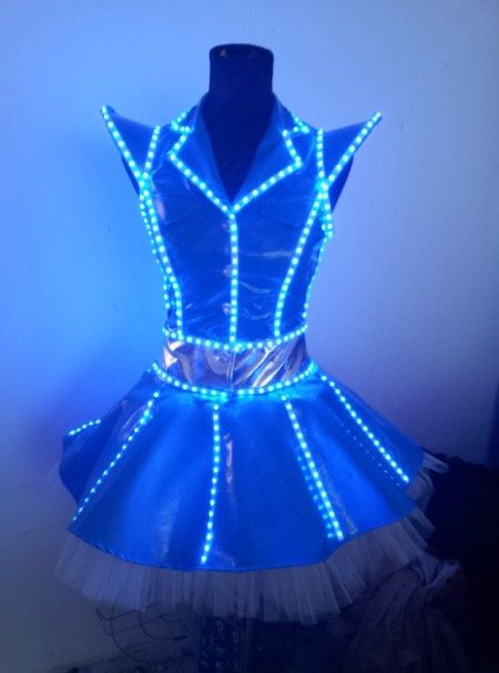 cs0070 womens sexy dancing led costume led dance costume luminous costume co2 jet - Halloween Led Costume