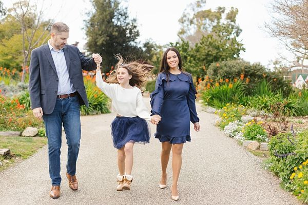 South Coast Botanic Garden Engagement Session: Neila & Alan #winterfamilyphotography
