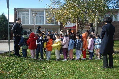 la escuela tenía un simulacro de incendio