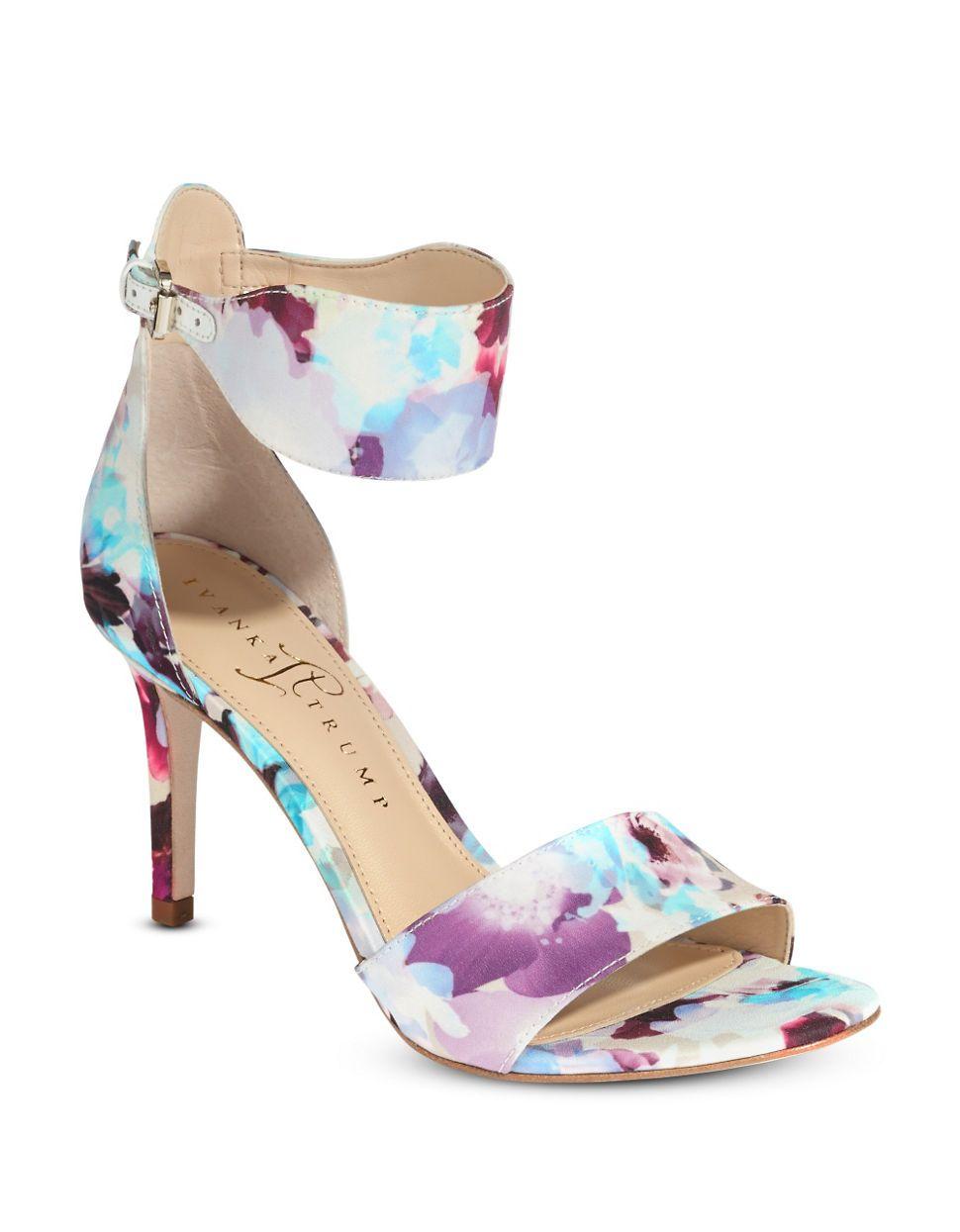 IVANKA TRUMP Gelana floral print heels