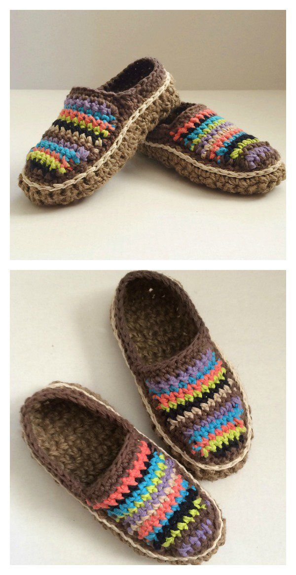 Crochet Moccasins with Pattern Brightly Designed for Everday ...