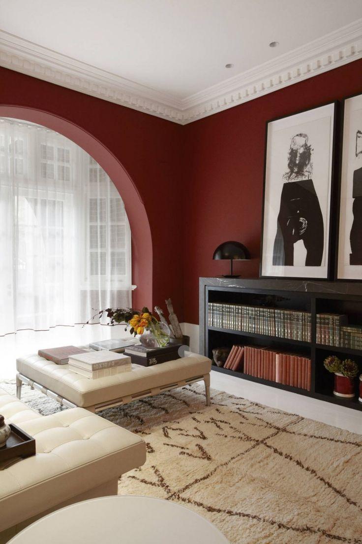 Peinture murale dans le salon et idées de déco en 25 photos ...