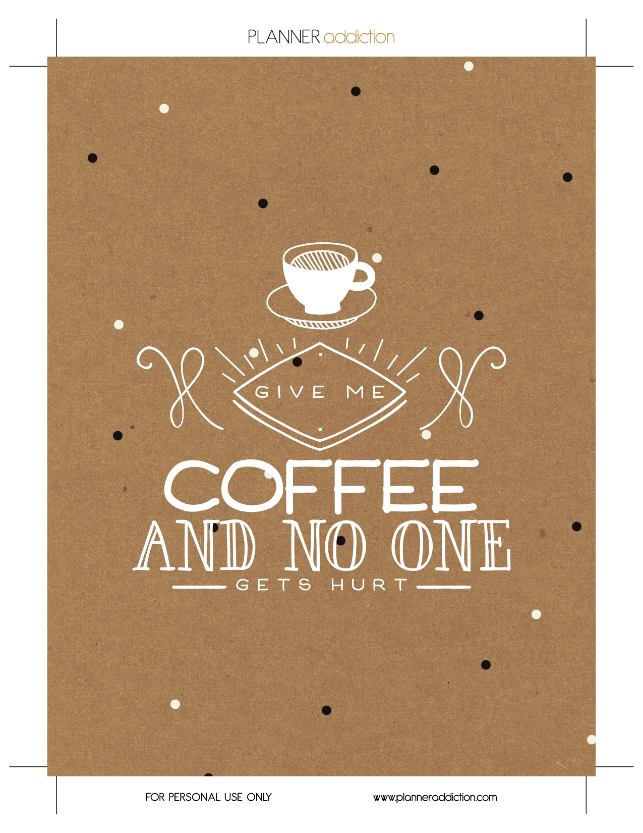 Free Printable Insert Cover For Happy Planner Give Me Coffee