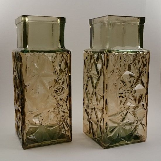 Sklo Union Pressed Glass Vases Design By Jiri Brabec For Rosice