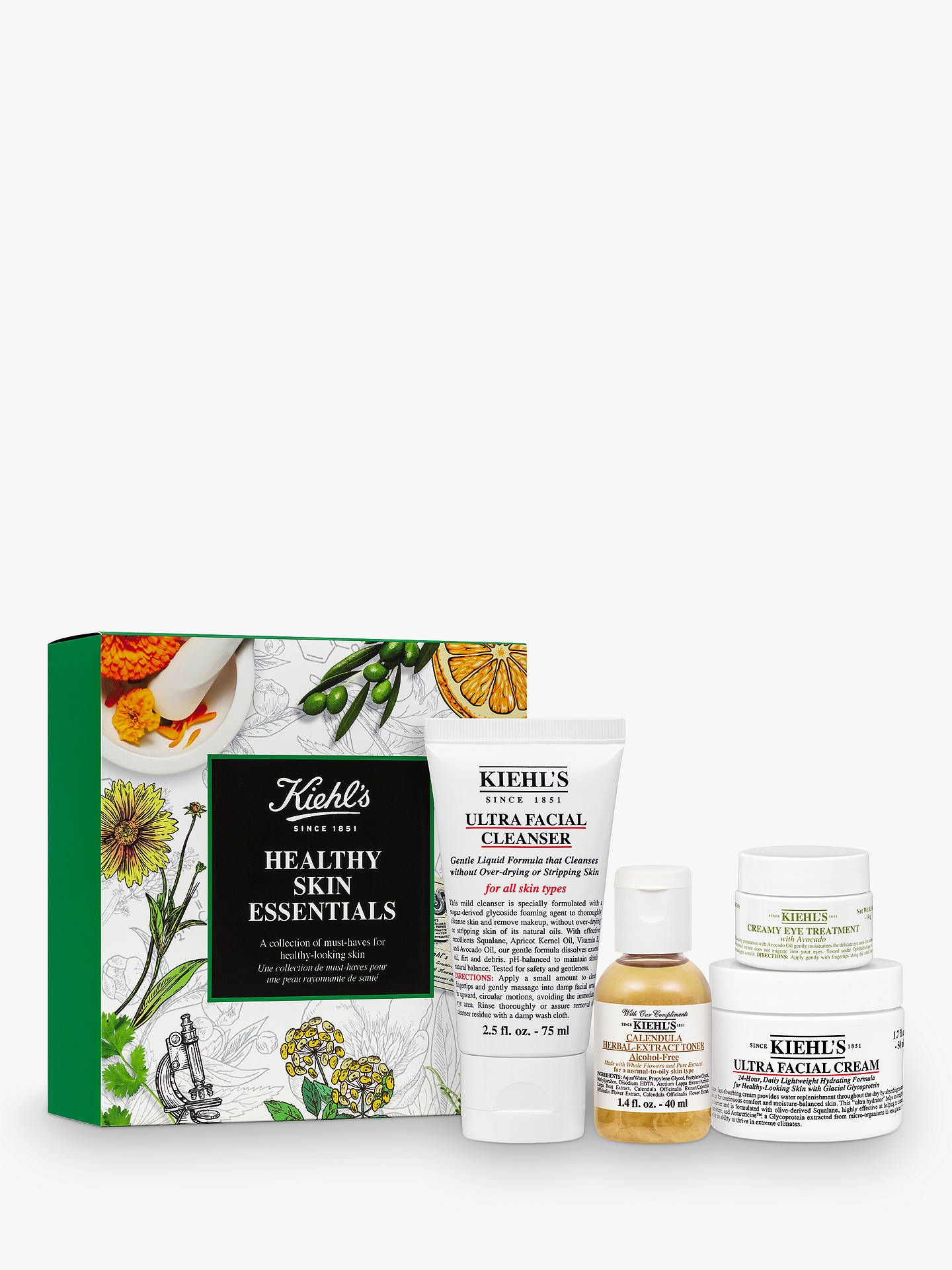 Kiehls healthy skin essentials skincare gift set skin