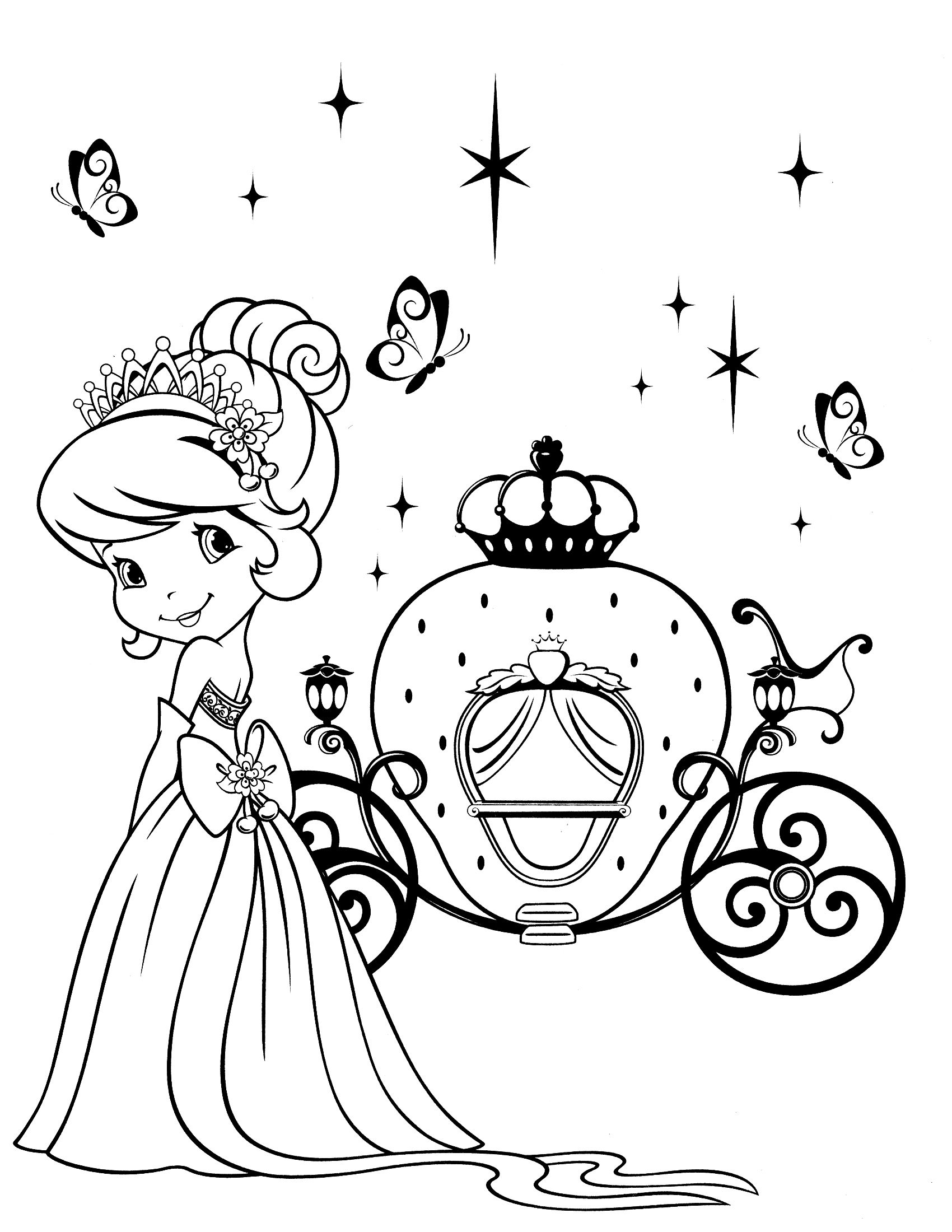 strawberry shortcake coloring page | Disenos | Pinterest | Adult ...