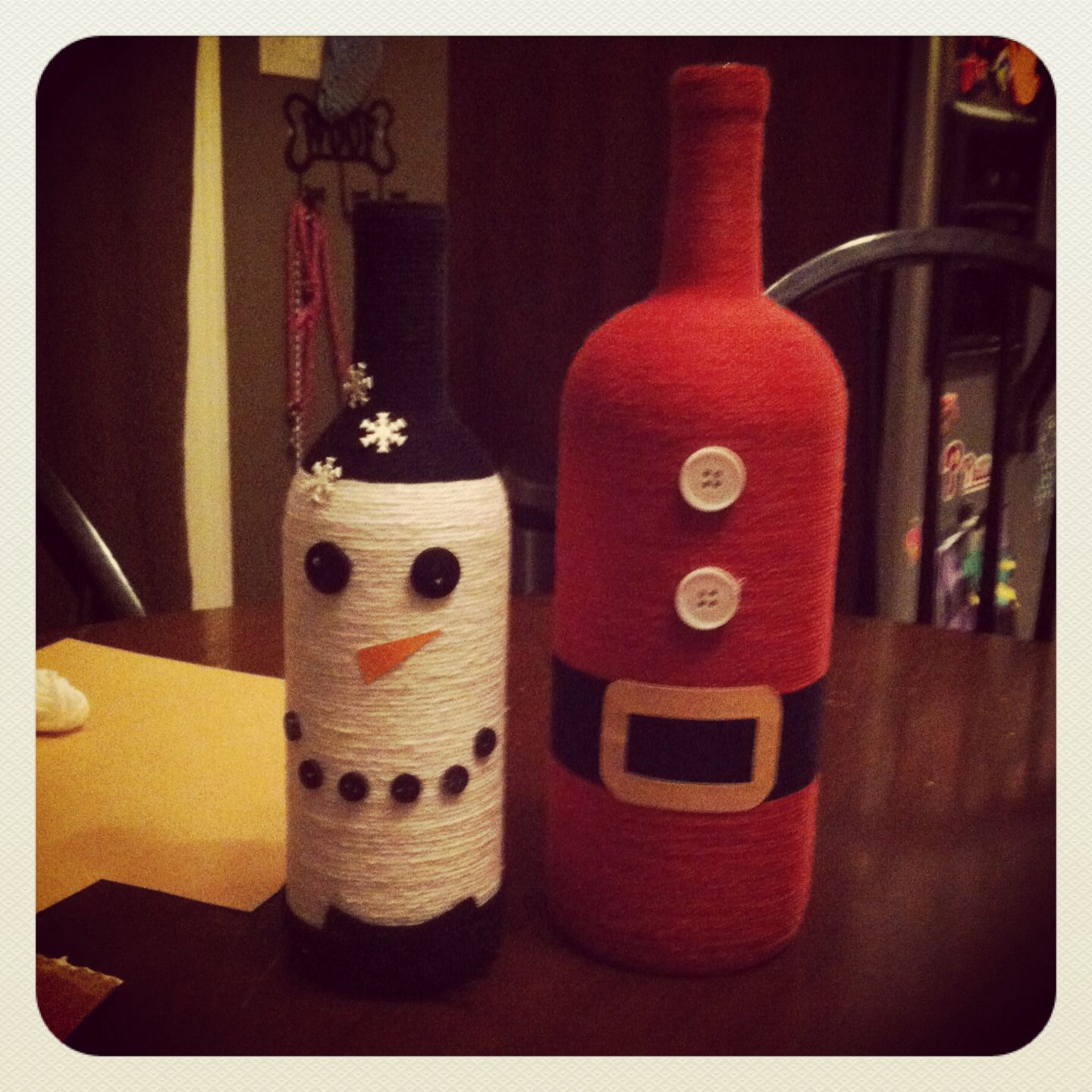 Handmade Christmas Wine Bottles Bottle Crafts Christmas Food Crafts Christmas Wine Bottles