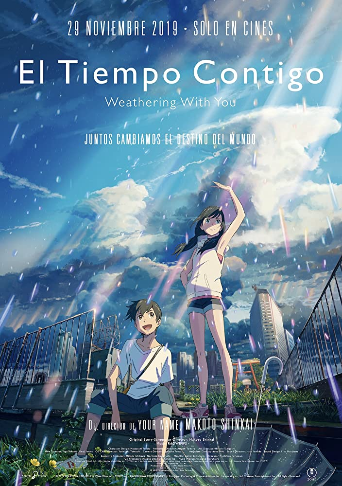 Weathering With You A High School Boy Who Has Run Away To Tokyo Befriends A Girl Who Appears To Be Able To Manipulate The W Anime Movies Animated Movies Anime
