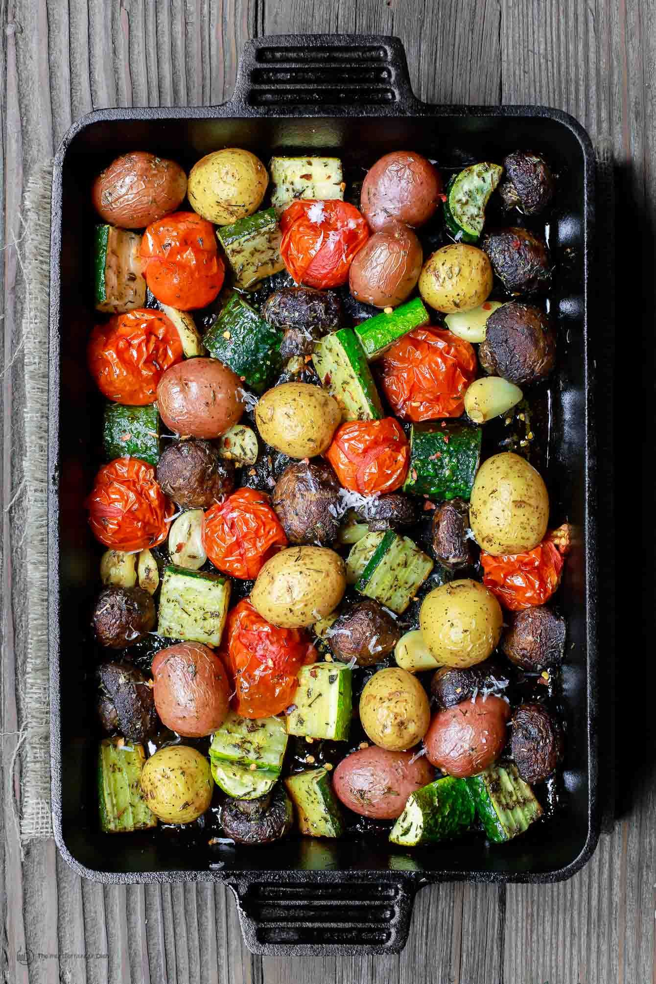 Italian Oven Roasted Vegetables Rezept Vegan Licious