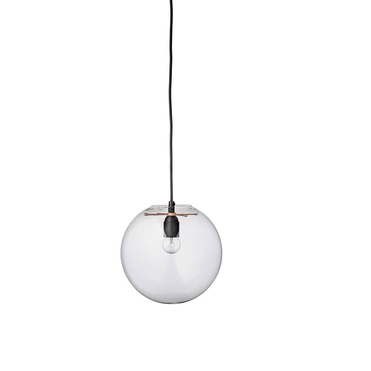 Schlichte Deckenlampe aus Glas - \