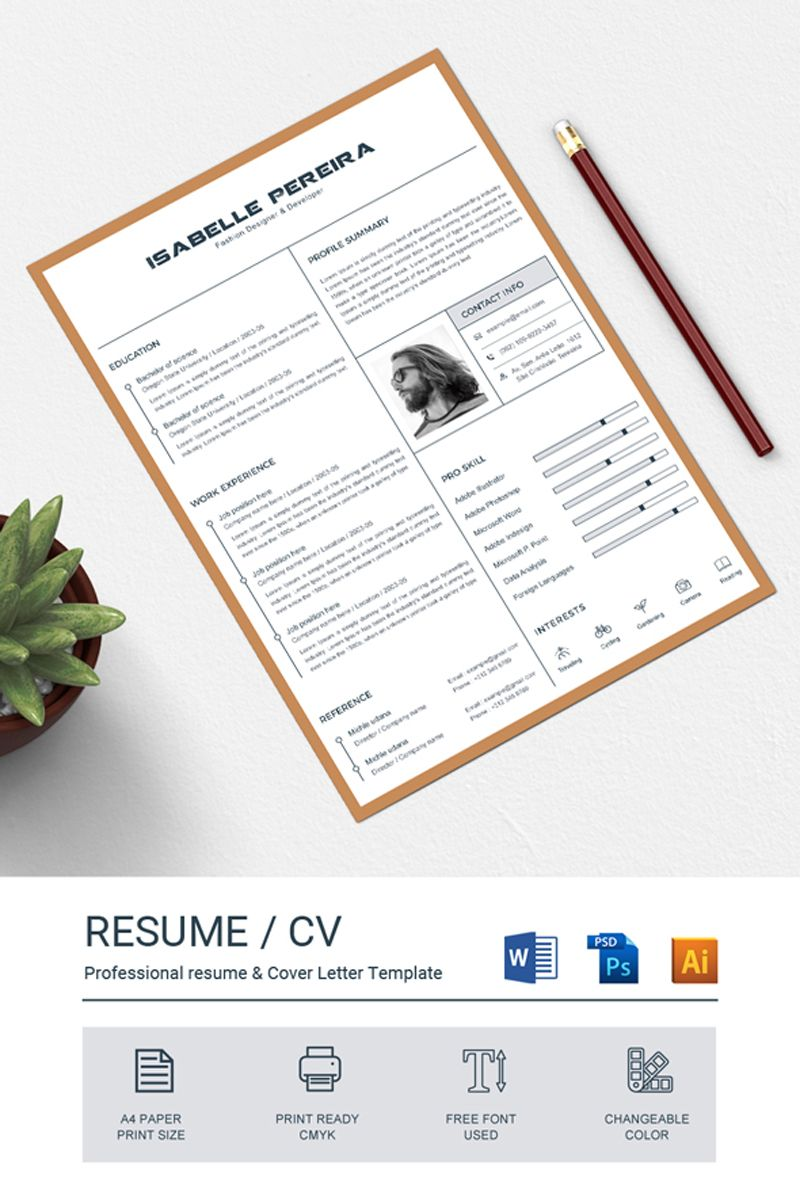Isalbelle resume template 80078 resume cover letter