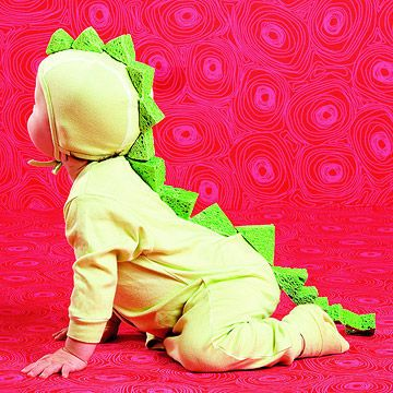 Handmade halloween costumes dragon costume dragon costume do it yourself cut green sponges into triangles and stitch or glue them solutioingenieria Images