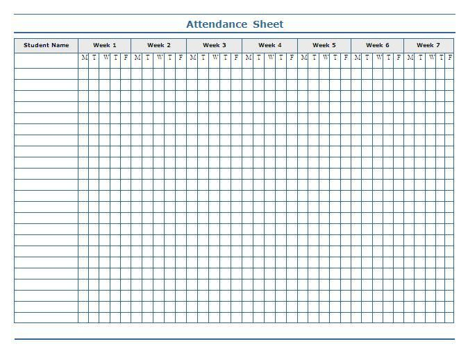 Attendance Sheet Template  Build A Better Binder
