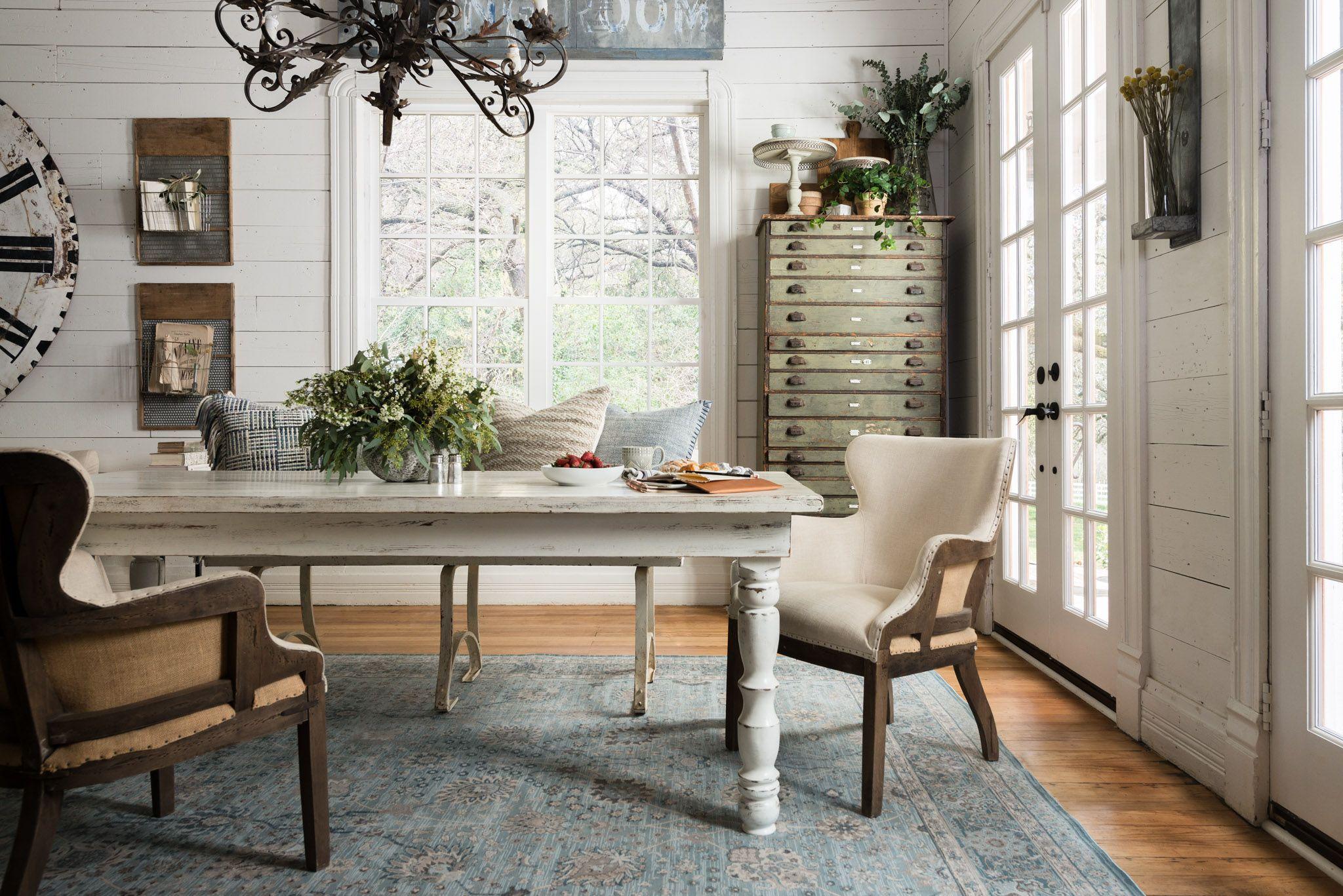 Magnolia Home Decor joanna gaines' dining room featuring the magnolia home ella rose
