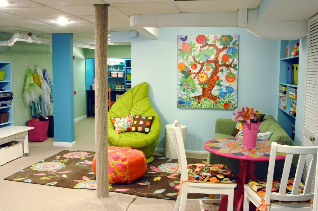 paint colors for playrooms |  color kids playroom design ideas