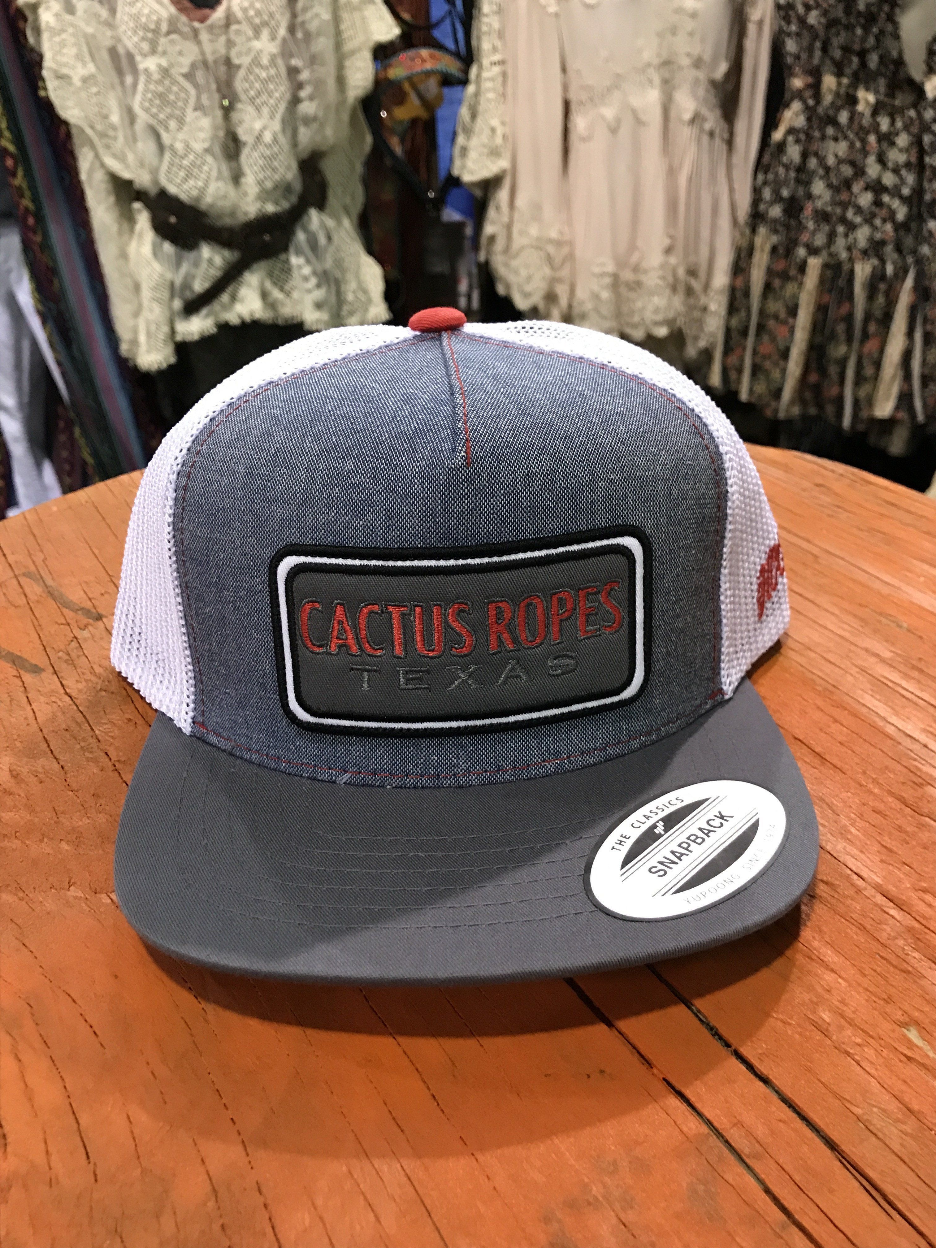 Hooey CR024Y Denim White Cactus Ropes Trucker Hooey Hat  9af58e4b289